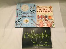 3x Calligraphy Books Lettering Advanced Calligraphy Techniques Diana Hoare