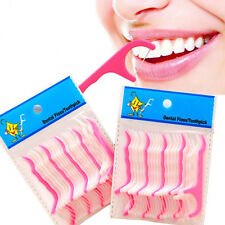 2x25pcs Dental Floss Stick Dental Flosser Toothpicks Picks Teeth Oral Care