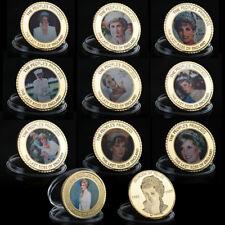 WR 10X Goldmünze Medaille Lady Diana Prinzessin von Wales Sammlung Münze Set
