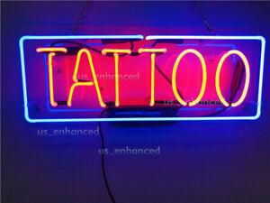 "New Tattoo Neon Sign Acrylic Gift Light Lamp Bedroom Bar Wall Room Decor 17"""