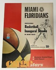 1968/69 DALLAS CHAPARRALS VS DENVER NUGGETS INAUGURAL SEASON ABA PROGRAM