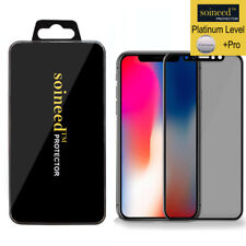 SOINEED Apple iPhone X Privacy Anti-Spy 3D Real Glass Tempered Screen Protector
