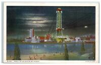 Hall of Science at Night, 1934 Chicago World's Fair Postcard