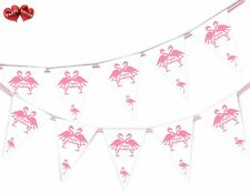 Exotic Happy Birthday Bunting Banner 15 flags Flamingo, Pink by Party Decor