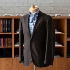 NWT Spier And Mackay Brown Slub Contemporary Sport Coat 44R Drago