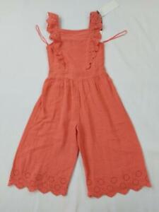 Girls George Jump Suit Children's Long Dress Orange + Sizes 4-14 Years