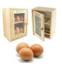 12 EGGS HOLDER UNIT SOLID WOOD SHELFS EGG HOUSE RUBBERWOOD CABINET WOOD RACKS