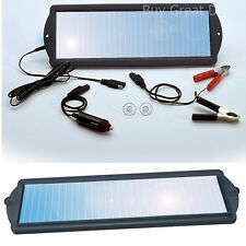 Solar Powered 12 V Battery Maintainer Trickle Charger Car Auto Boat Mower Marine