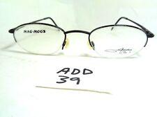 Vintage Jonathan Cate Mag-Mogs Eyeglass Frame Half Rim Black (Add-39)