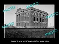 OLD LARGE HISTORIC PHOTO OF GLENROY VICTORIA, RAILWAY ELECTRIC SUB STATION c1930
