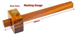 230mm Marking Gauge Woodworking Carpentry DIY Brass Inserts Hardwood
