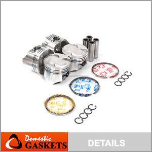 Pistons and Rings fit 98-01 Chevrolet Metro Suzuki Swift 1.3 SOHC 16V
