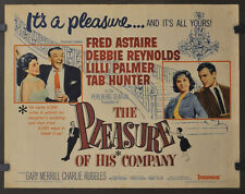 PLEASURE OF HIS COMPANY 1961 ORIG 22X28 MOVIE POSTER FRED ASTAIR LILLI PALMER