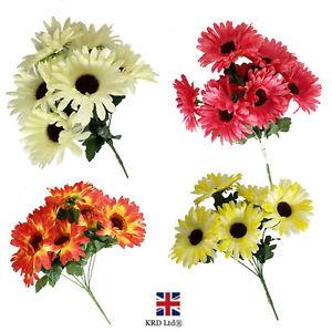 Artificial Silk Gerbera Daisy Flower Bouquet Wedding Home Decor Mothers Day Gift