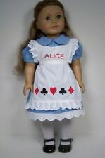 ALICE in WONDERLAND Costume Dress Apron Doll Clothes For 18 American Girl (Debs)