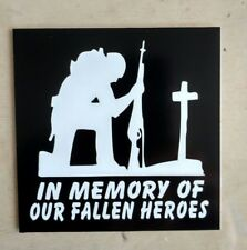 In Memory of Our Fallen Heroes Decal (4x4)