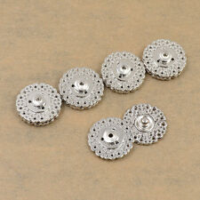 5pcs Flower Metal Snap Fasteners Sew on Buttons DIY Sewing Clothing Bags Craft