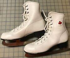 New listing Vintage Canadian Flyer Red Maple Leaf Ice Skates Rink Master Mk England Blades