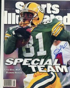 DESMOND HOWARD GREEN BAY PACKERS NO LABEL SPORTS ILLUSTRATED signed autographed