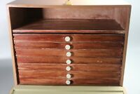 Vintage Military Collectors Drawers, Collectors Cabinet