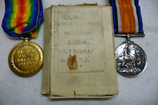 "Lot of 2 British WW1 Medals & Ribbons in Original Box Awarded to ""H.W.Knight"""