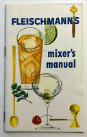 Fleischmann's Mixer's Manual Illustrated Vintage Cocktail Recipe Booklet 1960s