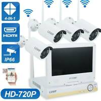 WiFi 4CH 1080P NVR Security Camera System Wireless Outdoor with 10'' LCD Monitor