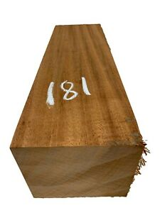 "African Mahogany Turning Wood Blank/Pepper Mill Blank Lathe 4""x4-1/2""x15"", #181"