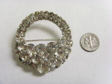 set basket brooch estate sale 50333 Antique art deco diamante bejeweled prong