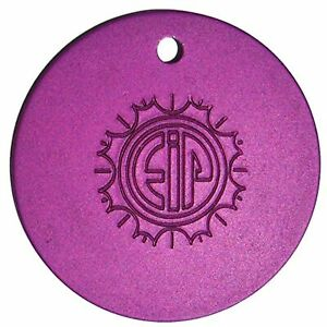 "Tesla Purple Plates - Energy Locket Disk EMF Protection - 1.5"" Pendant"