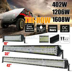 10/32/42'' LED Work Light Bar Car Spotlight Off-Road SUV Truck Fog Driving Lamp