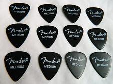 12 x Fender 351 Medium Premium Celluloid Guitar Picks / Plectrums Pitch Black