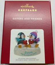 Hallmark 2021 Sisters and Friends Penguins Christmas Ornament New with Box