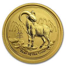 2015 Australia 1/10 oz Gold Lunar Goat BU - SKU #84439