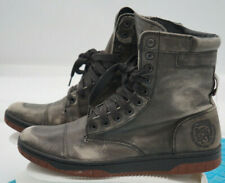 Diesel Basket Butch Zippy Distressed Leather Lace Military Boots Men's Size 9 US