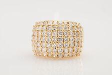 Estate $14,000 7 Row 7ct VS G Diamond 18k Yellow Gold 17mm Wedding Band Ring
