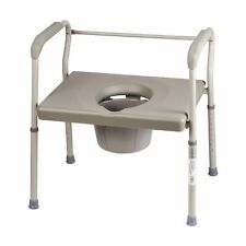 DMI Duro-Med Heavy-duty Steel Commode Toilet Safety Frame Chair