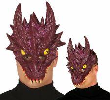 Mítico Violeta Dragón Máscara Foam Látex Purpurina Adulto Disfraz Cosplay