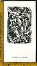 Ex Libris Originale a 303 Frank Ivo Van Damme Collart 1981