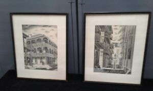 ART John Reed Campbell #2 Architectural Prints of French Quarter, New Orleans