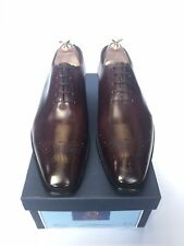 FREE P&P Alfred Sargent Scott Wholecut In Burgundy With A Oak Bark Leather Sole