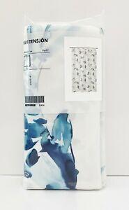 "Ikea VATTENSJÖN VATTENSJON Shower Curtain, White Blue Fish 71"" x 71"" - NEW"