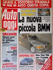 Auto Oggi 191 1990 Prime foto della BMW serie 3. La Fiat 126. Renault 19 [Q106]