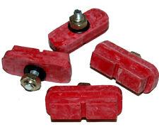 Old School Red BMX Brake Shoes /  2pr Red BLOCK NEW!