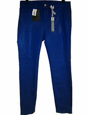 J Brand Mid Rise Skinny Leg Coated Jeans sz 31 Royal Blue Ankle Fit NEW $240