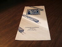 APRIL 1961 NICKEL PLATE ROAD SYSTEM PUBLIC TIMETABLE