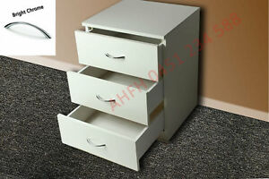 Small WHITE BEDSIDE TABLES STAND (Solid Kids Children Bedroom Furniture Sydney)