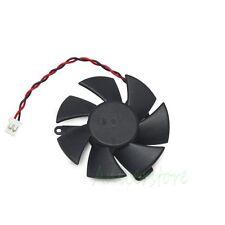 Mounting Hole 39mm PC GPU VGA Card Heatsink Cooler 47mm 2pin Cooling Fan Black
