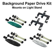 5pc Photo Studio Background Paper Drive Kit Light Stand Mount 3-Roller Backdrop