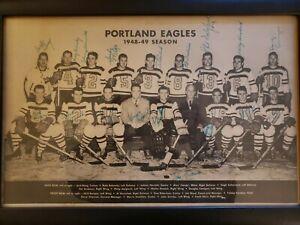 Vintage Portland Eagles PCHL 1948/49 Hockey Team Photo - All Autographs